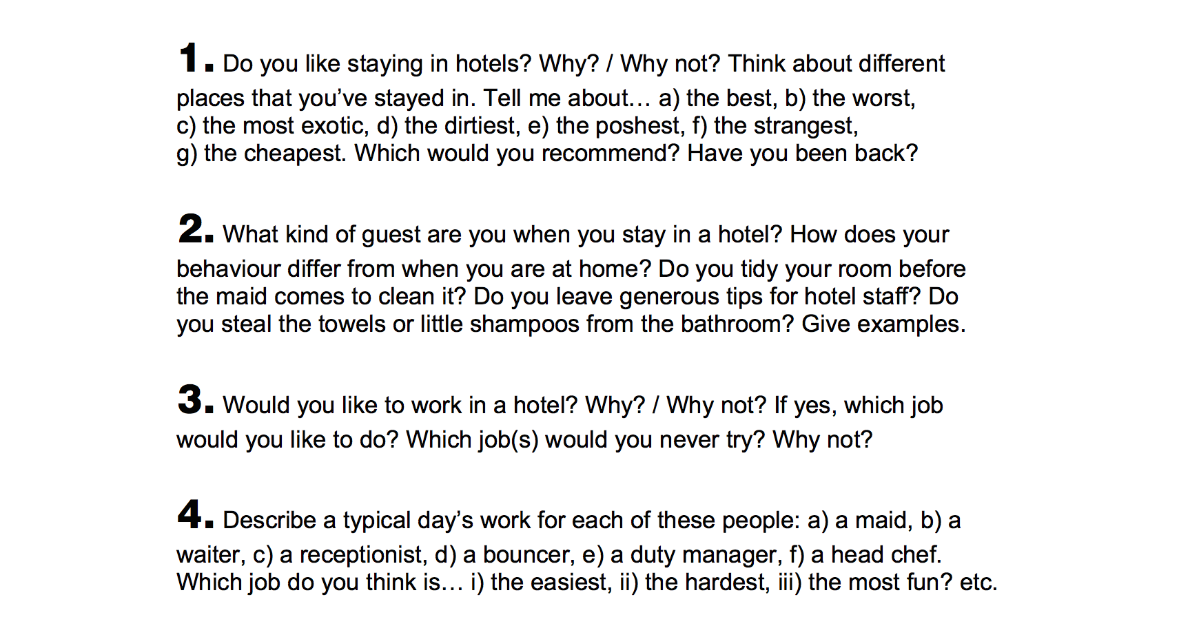 Talk A Lot Series_Unit 1_Hotel_Vocabulary and Conversation